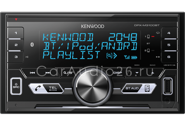 kenwood dpx-m3100bt гу 2din